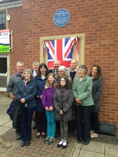 Pollard Family Plaque unveiling 27th May 2014
