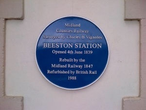 beeston train station blue plaque