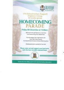 5th December Homecoming Parade Poster012