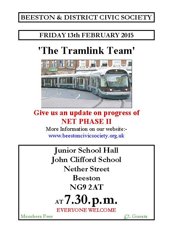 13th Feb 2015 Meeting – Tramlink Team