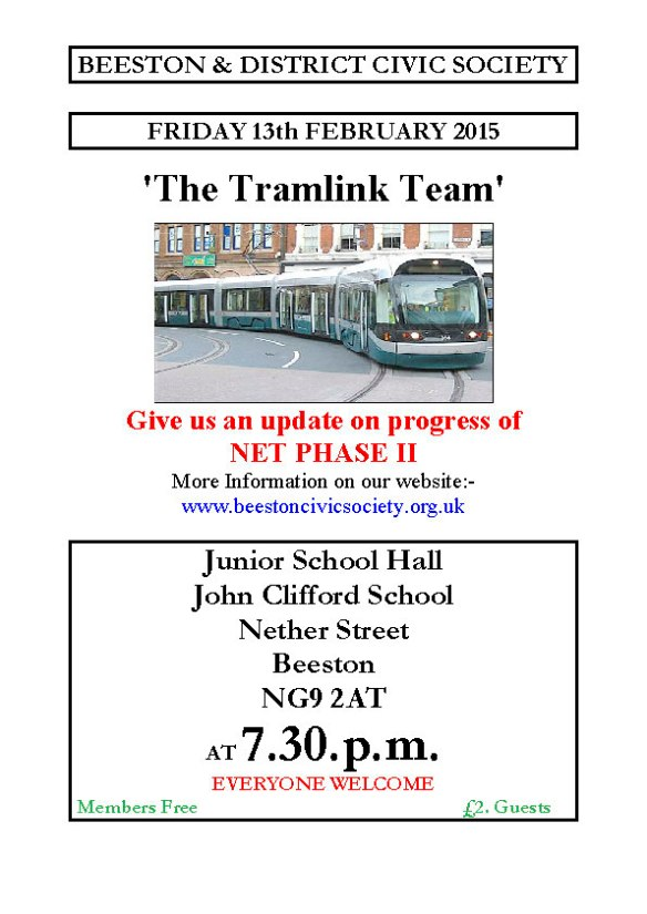 13th Feb 2015 Meeting – Tramlink Team