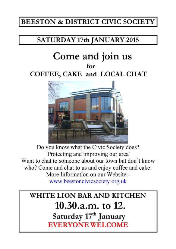17th January 2015 – Coffee, Cake and Local Chat