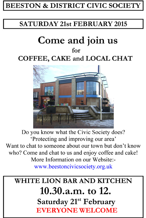 Coffee, Cake and Local Chat - Saturday 21st Feb 2015