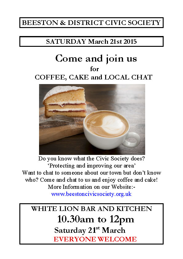 Come and have a Coffee, Cake & Local Chat! This Sat @ White Lion