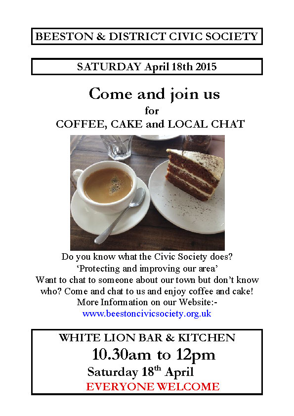Coffee, Cake and Local Chat April