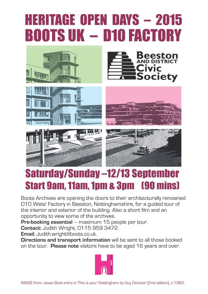 Heritage Open Days - Boots D10 Building Tours - Booking Now!