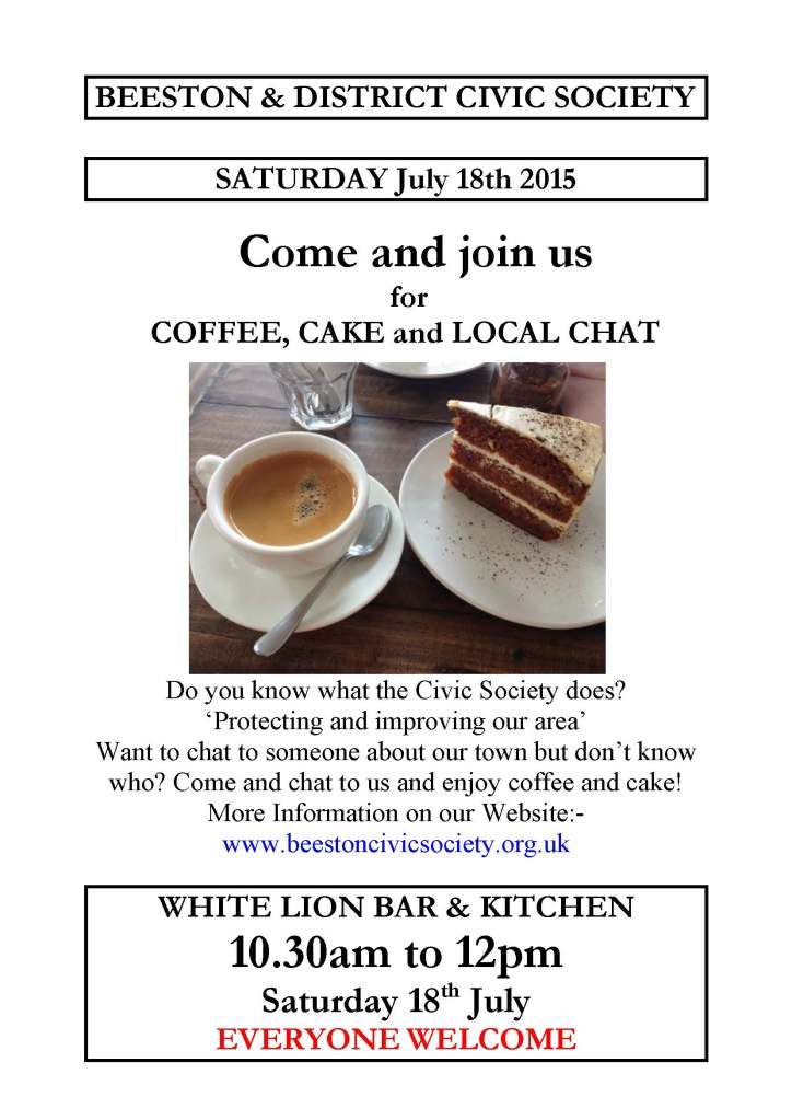 Coffee, Cake and Chat at the White Lion - 11th July 2015