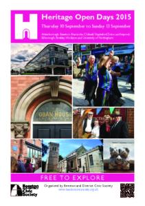 HOD Beeston 2015 - Events Booklet PDF