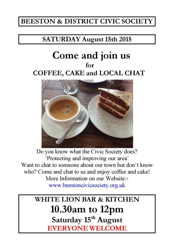 Coffee, Cake and Chat at the White Lion - 15th August 2015