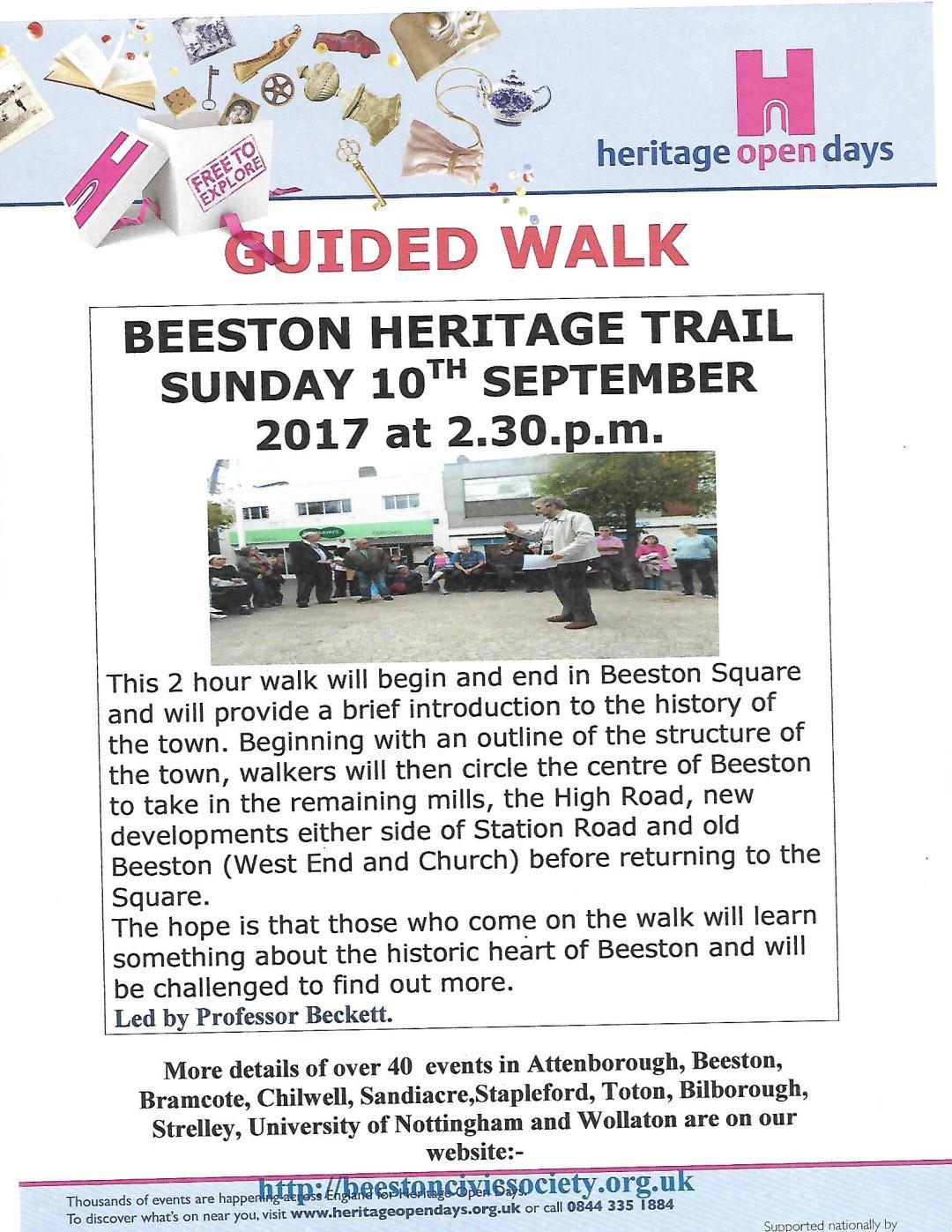 10th Sept Heritage Walks Poster