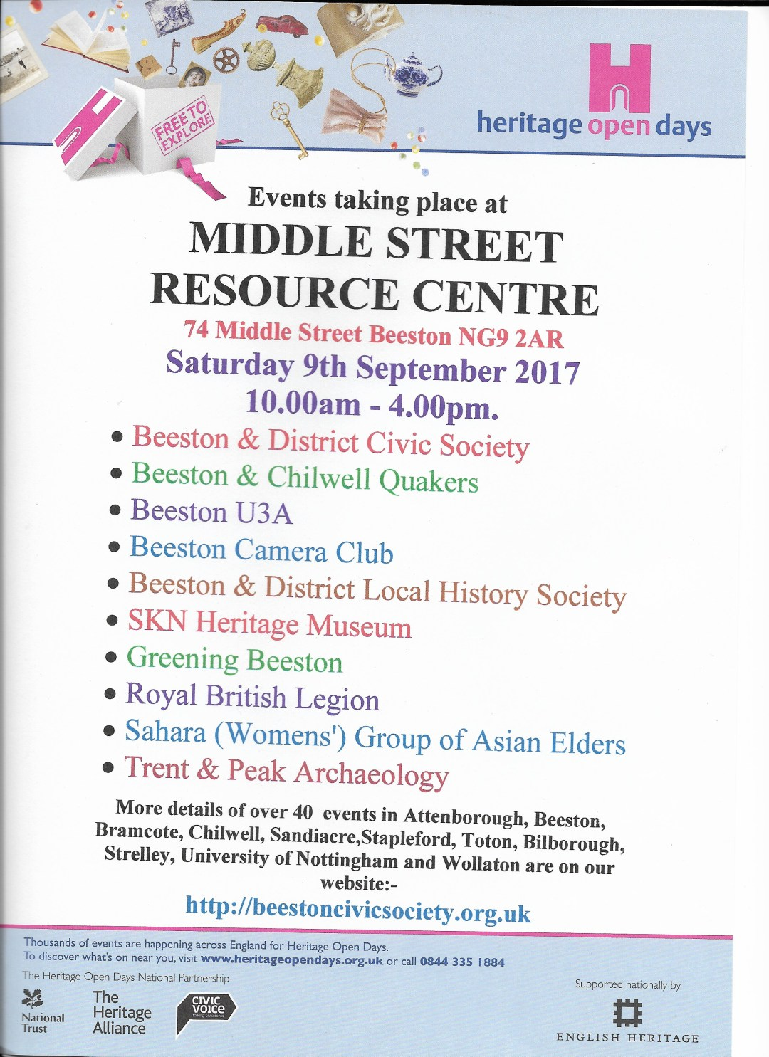 Middle Street Resource Centre poster