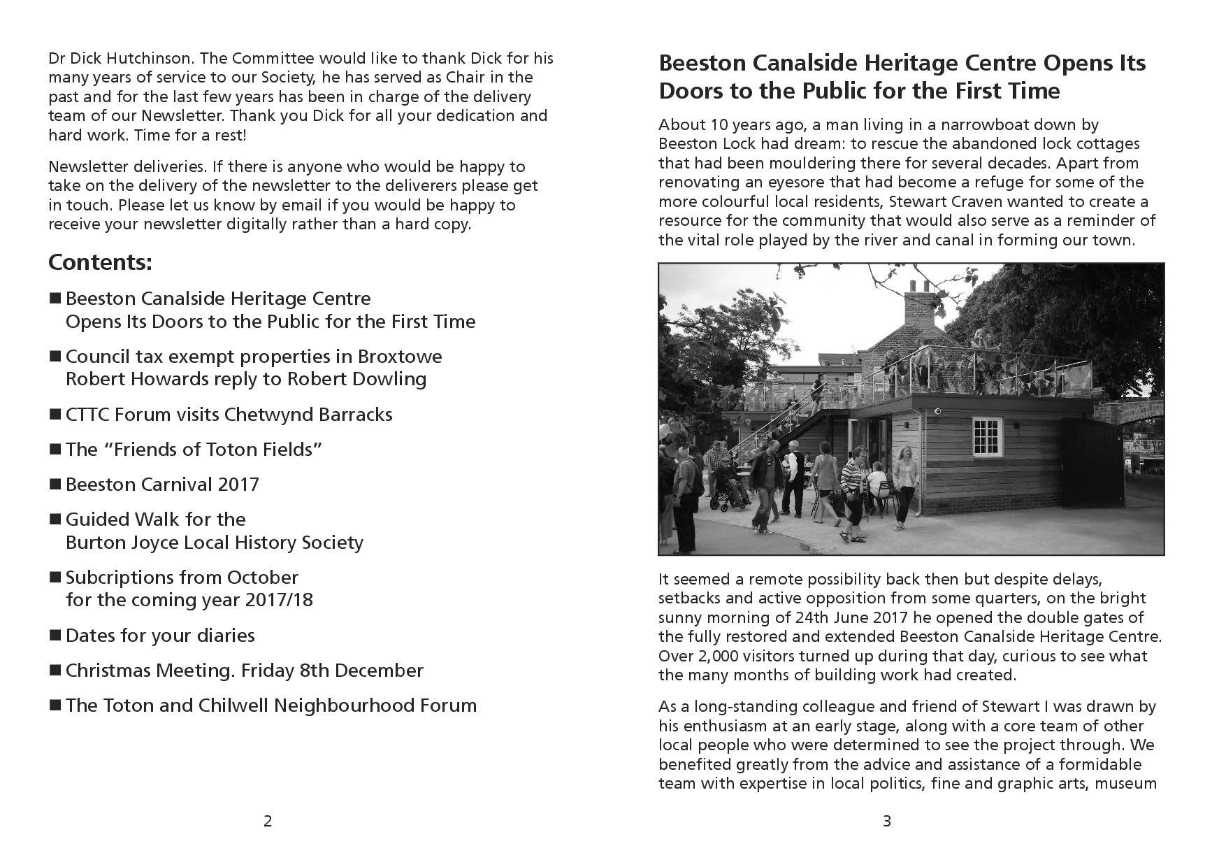 174 – Autumn 2017 Newsletter | Beeston & District Civic Society