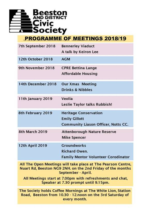 Programme of meetings 2018-19