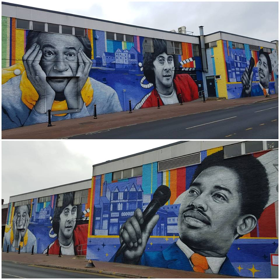 Zabou mural Beeston Edwin Starr Paul Smith Richard Beckinsale
